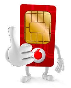 Sim kaart Vodafone
