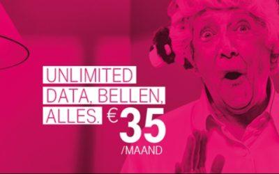 T-Mobile stunt met sim only abonnement met onbeperkt internet voor 35 euro