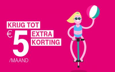 T-Mobile Samen geeft €5 extra korting op mobiel- of sim only abonnement