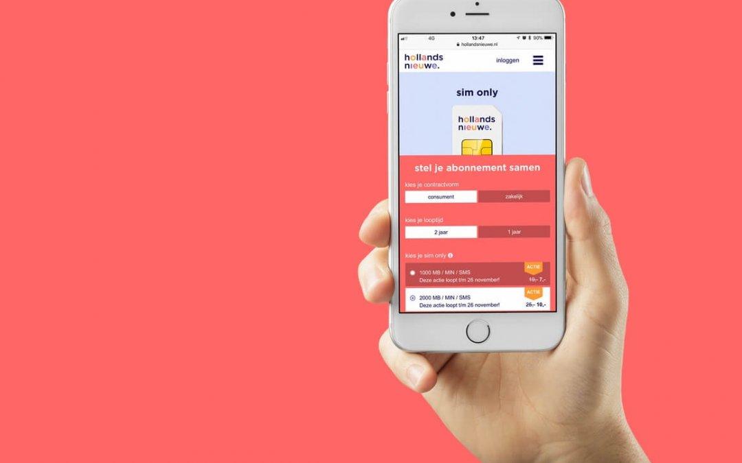 Hollandsnieuwe introduceert nieuwe sim only bundels zonder aansluitkosten