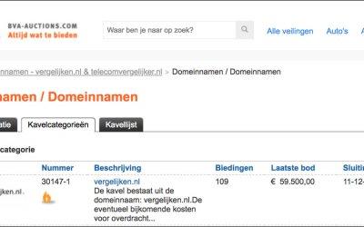 Domeinnaam vergelijken.nl voor €60.000 overgenomen door Pricewise