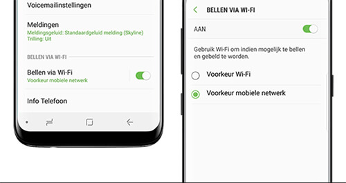 Bellen via 4G instellen op een Android toestel